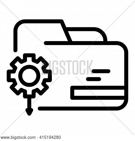 Backup Settings Icon. Outline Backup Settings Vector Icon For Web Design Isolated On White Backgroun