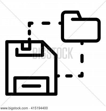 Media Folder Backup Icon. Outline Media Folder Backup Vector Icon For Web Design Isolated On White B