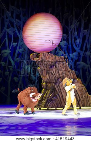 Timon And Pumbaa By Mountain