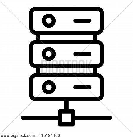 Server Backup Icon. Outline Server Backup Vector Icon For Web Design Isolated On White Background