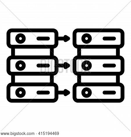 Security Backup Icon. Outline Security Backup Vector Icon For Web Design Isolated On White Backgroun