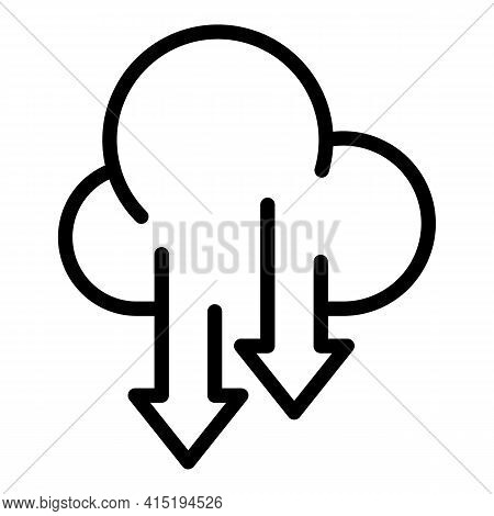 Cloud Backup Icon. Outline Cloud Backup Vector Icon For Web Design Isolated On White Background