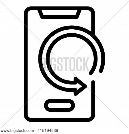 Phone Backup Icon. Outline Phone Backup Vector Icon For Web Design Isolated On White Background