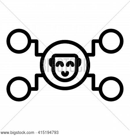 Crew Icon. Outline Crew Vector Icon For Web Design Isolated On White Background