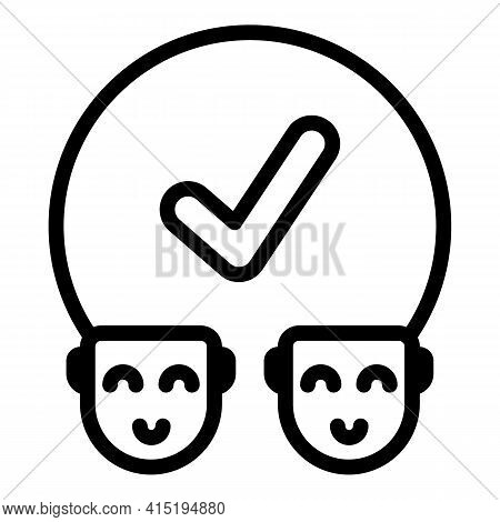 Crew People Icon. Outline Crew People Vector Icon For Web Design Isolated On White Background