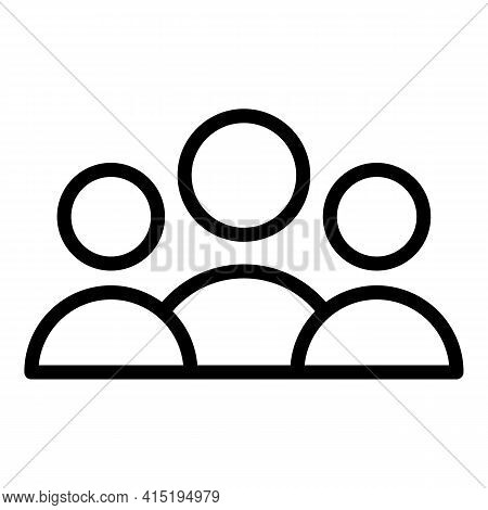 Professional Crew Icon. Outline Professional Crew Vector Icon For Web Design Isolated On White Backg