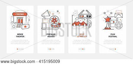 Cinema - Modern Line Design Style Web Banners