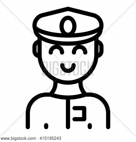 Aircraft Pilot Icon. Outline Aircraft Pilot Vector Icon For Web Design Isolated On White Background