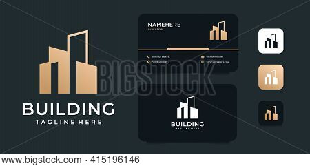 Modern Logo Design Real Estate Building Concept Style. Logo Can Be Used For Icon, Brand, Identity, A