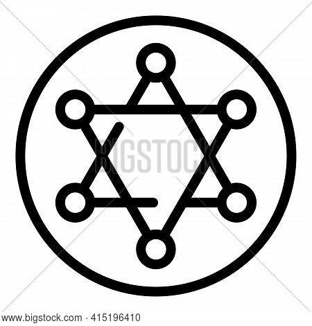 Spirituality Icon. Outline Spirituality Vector Icon For Web Design Isolated On White Background