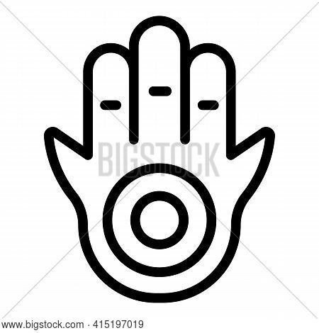Spiritual Hand Icon. Outline Spiritual Hand Vector Icon For Web Design Isolated On White Background
