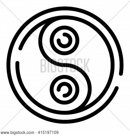 Inner Peace Icon. Outline Inner Peace Vector Icon For Web Design Isolated On White Background