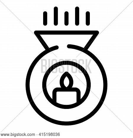 Energy Healing Icon. Outline Energy Healing Vector Icon For Web Design Isolated On White Background