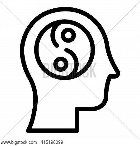 Spiritual Healing Icon. Outline Spiritual Healing Vector Icon For Web Design Isolated On White Backg