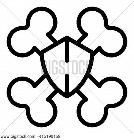 Arthritis Icon. Outline Arthritis Vector Icon For Web Design Isolated On White Background