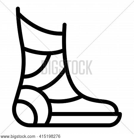 Foot Injury Icon. Outline Foot Injury Vector Icon For Web Design Isolated On White Background