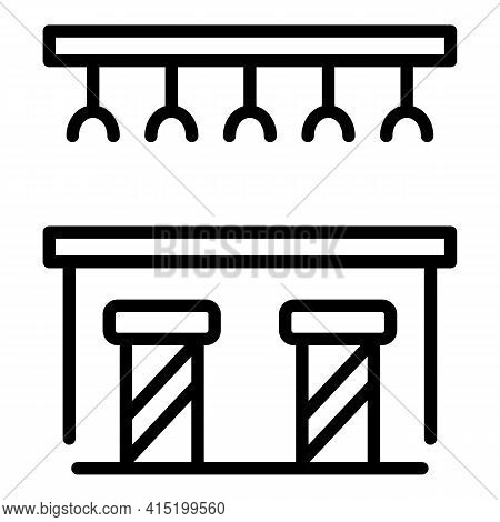 Bar Counter Icon. Outline Bar Counter Vector Icon For Web Design Isolated On White Background