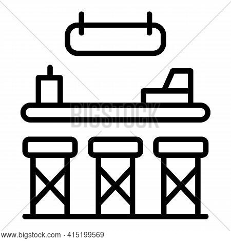Pub Counter Icon. Outline Pub Counter Vector Icon For Web Design Isolated On White Background
