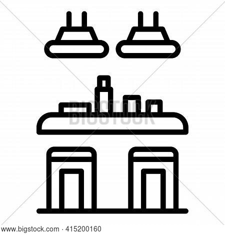 Bottle Counter Icon. Outline Bottle Counter Vector Icon For Web Design Isolated On White Background