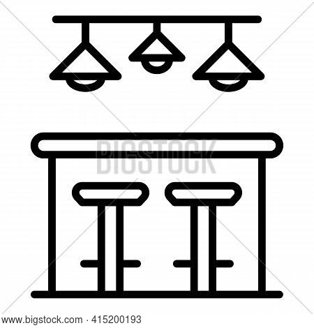 Order Bar Counter Icon. Outline Order Bar Counter Vector Icon For Web Design Isolated On White Backg
