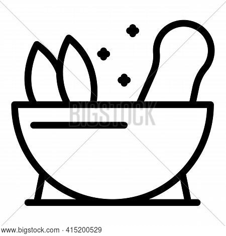 Herbal Medicine Icon. Outline Herbal Medicine Vector Icon For Web Design Isolated On White Backgroun