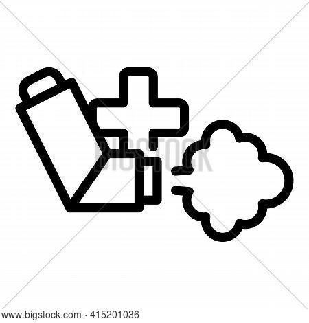 Medical Inhaler Icon. Outline Medical Inhaler Vector Icon For Web Design Isolated On White Backgroun