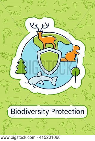 Biodiversity Protection Brochure.reduce Air Pollution Template.flyer, Magazine, Poster, Booklet.savi