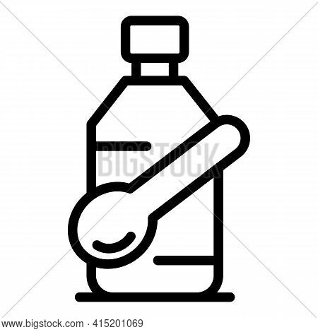 Medical Syrup Icon. Outline Medical Syrupvector Icon For Web Design Isolated On White Background