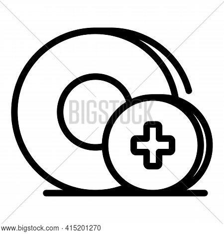 Medical Lozenge Icon. Outline Medical Lozenge Vector Icon For Web Design Isolated On White Backgroun