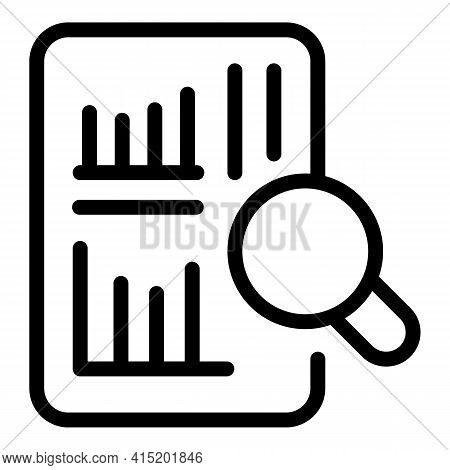 Report Sheet Icon. Outline Report Sheet Vector Icon For Web Design Isolated On White Background