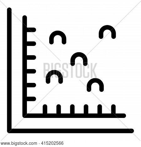 Business Revenue Chart Icon. Outline Business Revenue Chart Vector Icon For Web Design Isolated On W