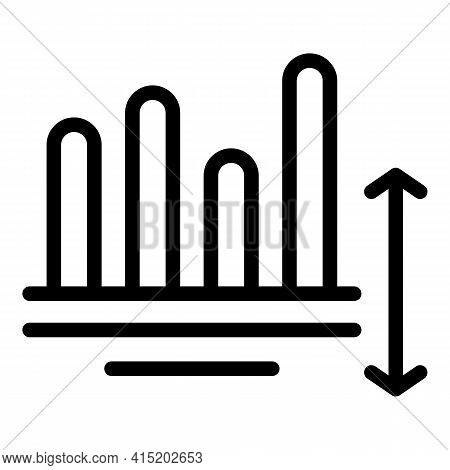 Progress Business Chart Icon. Outline Progress Business Chart Vector Icon For Web Design Isolated On