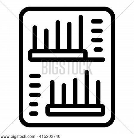 Business Status Chart Icon. Outline Business Status Chart Vector Icon For Web Design Isolated On Whi