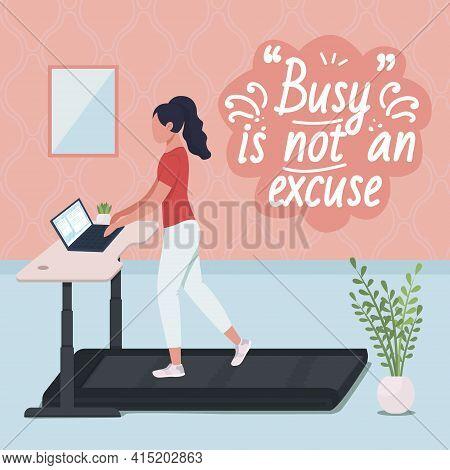 Standing Workstation At Work Social Media Post Mockup