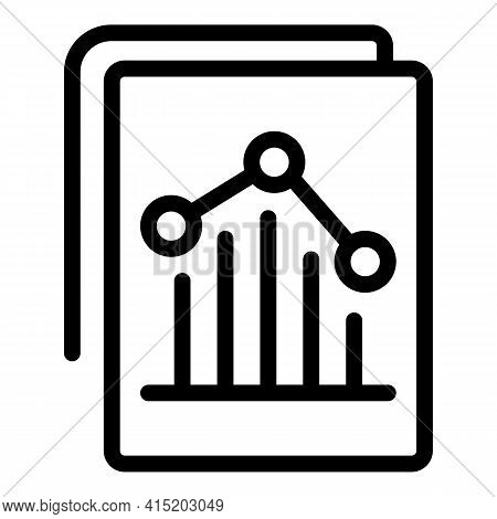 Increase Business Chart Icon. Outline Increase Business Chart Vector Icon For Web Design Isolated On