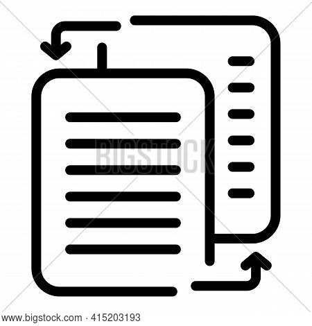 Refresh Business Report Icon. Outline Refresh Business Report Vector Icon For Web Design Isolated On