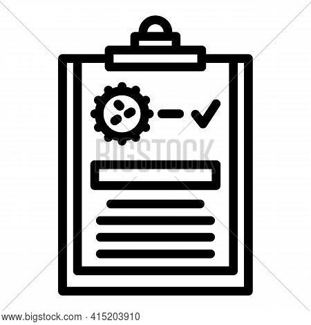 Covid Test Diagnostics Icon. Outline Covid Test Diagnostics Vector Icon For Web Design Isolated On W