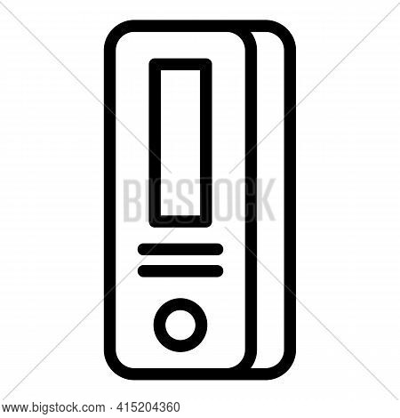 Portable Covid Test Icon. Outline Portable Covid Test Vector Icon For Web Design Isolated On White B