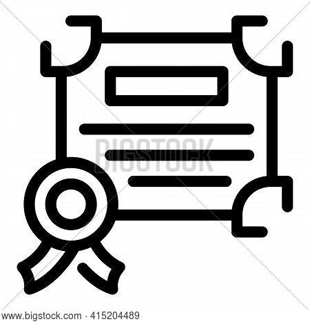 Ranking Diploma Icon. Outline Ranking Diploma Vector Icon For Web Design Isolated On White Backgroun