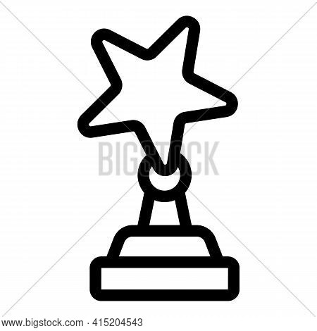 Ranking Star Cup Icon. Outline Ranking Star Cup Vector Icon For Web Design Isolated On White Backgro