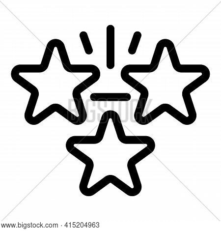 Victory Emblem Stars Icon. Outline Victory Emblem Stars Vector Icon For Web Design Isolated On White