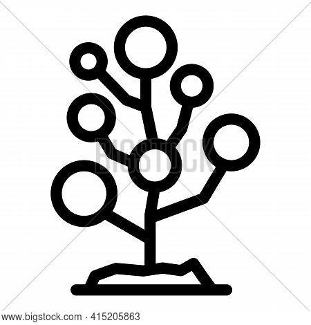 Fruit Bush Icon. Outline Fruit Bush Vector Icon For Web Design Isolated On White Background