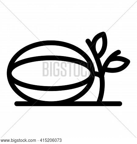 Melon Plant Icon. Outline Melon Plant Vector Icon For Web Design Isolated On White Background