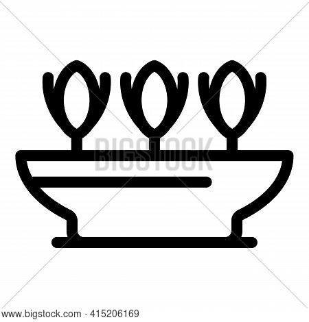 Greenhouse Plants Pot Icon. Outline Greenhouse Plants Pot Vector Icon For Web Design Isolated On Whi