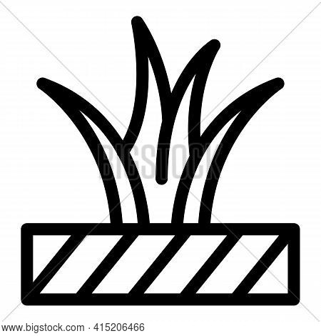 Botanical Plant Pot Icon. Outline Botanical Plant Pot Vector Icon For Web Design Isolated On White B