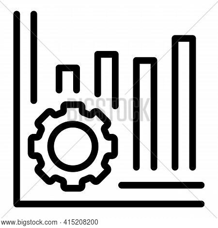 Finance Graph Icon. Outline Finance Graph Vector Icon For Web Design Isolated On White Background
