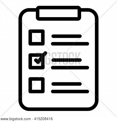 Mission Clipboard Icon. Outline Mission Clipboard Vector Icon For Web Design Isolated On White Backg