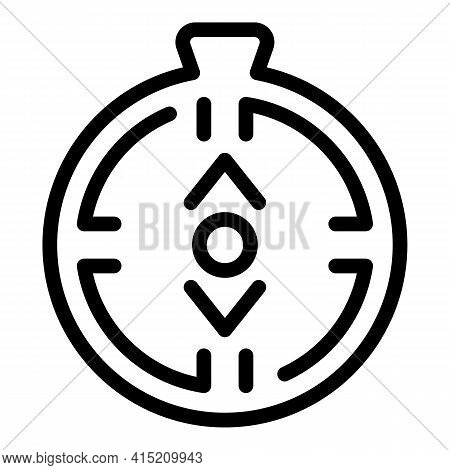 Compass Trend Icon. Outline Compass Trend Vector Icon For Web Design Isolated On White Background
