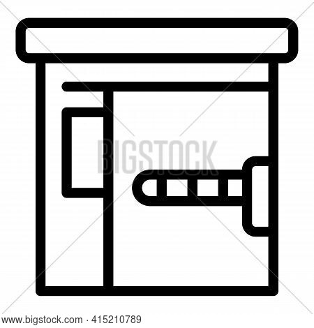 Private Parking Icon. Outline Private Parking Vector Icon For Web Design Isolated On White Backgroun