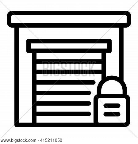 Closed Parking Icon. Outline Closed Parking Vector Icon For Web Design Isolated On White Background